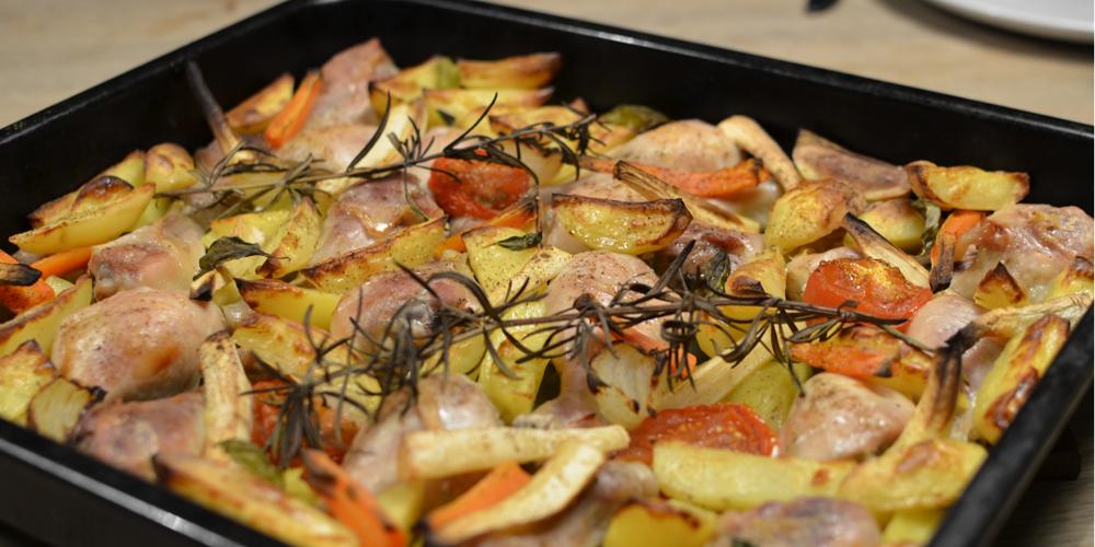 kylling kartofler i ovn