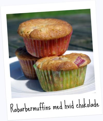 Sommerens Bedste Muffins Med Rabarber Og Hvid Chokolade